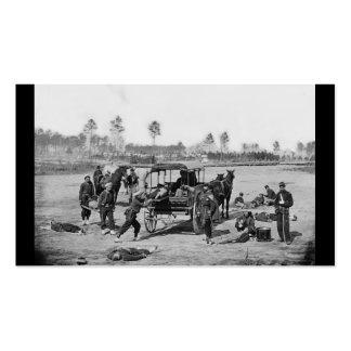 Equipo de la ambulancia de la guerra civil tarjetas de visita