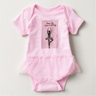 Equipo de la bailarina del bebé body para bebé
