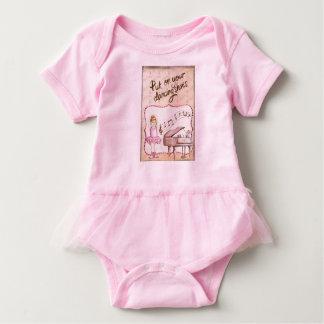 Equipo de la bailarina del bebé con el tutú body para bebé
