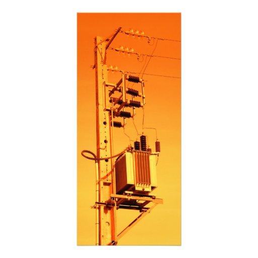 Equipo de la distribución de la electricidad tarjetas publicitarias a todo color