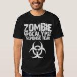 Equipo de la respuesta de la apocalipsis del zombi camiseta