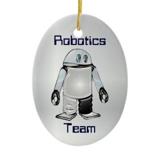 Equipo de la robótica u ornamento personalizado cl ornamentos de reyes