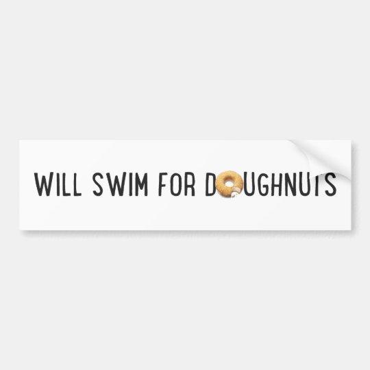 Equipo de natación, buñuelos divertidos, nadador pegatina para coche