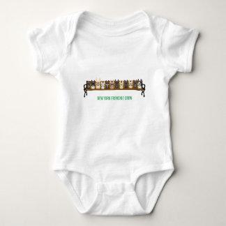 Equipo de Nueva York Frenchie por amor del dogo Body Para Bebé
