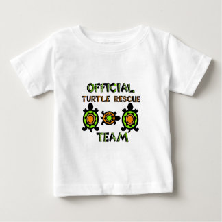 Equipo de rescate oficial 1 de la tortuga camiseta de bebé
