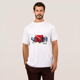 Equipo de submarinismo del masculino de Camiseta