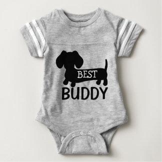 Equipo de una pieza del bebé del mejor Dachshund Body Para Bebé