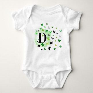 Equipo del bebé de la letra D Body Para Bebé