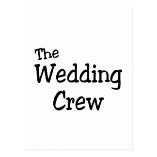 Equipo del boda postal