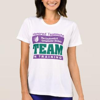 Equipo en manga honrada entrenamiento del camiseta