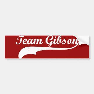 equipo gibson pegatina de parachoque