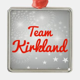 Equipo Kirkland Adorno Cuadrado Plateado