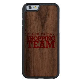 Equipo negro de las compras de viernes -- Humor Funda De iPhone 6 Bumper Nogal