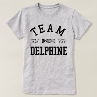 Equipo negro huérfano Delfina Camiseta