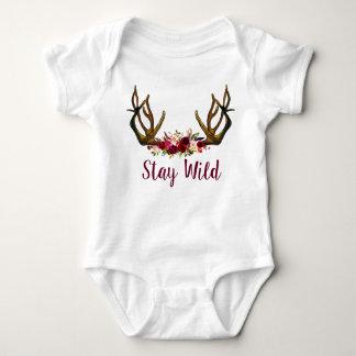 Equipo salvaje del bebé de la estancia body para bebé