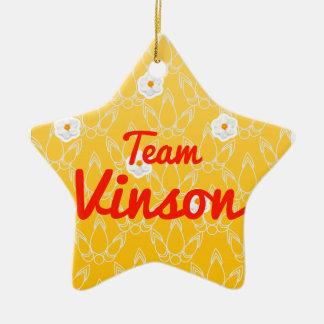 Equipo Vinson Adorno Navideño De Cerámica En Forma De Estrella