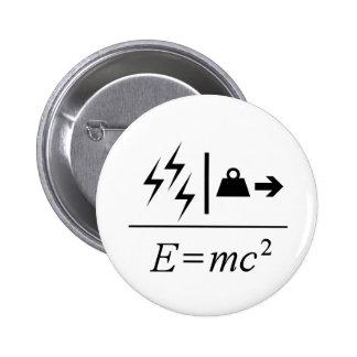 Equivalencia masa-energía chapa redonda de 5 cm