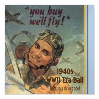 Era de WWII Invitación 13,3 Cm X 13,3cm