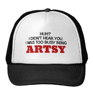 Era el ser demasiado ocupado artsy gorras de camionero