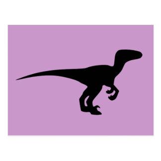 Era jurásica del esquema del dinosaurio tarjetas postales