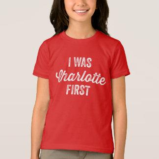 Era primera camiseta de Charlottle