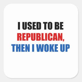 Era republicano, después elaboro calcomanía cuadrada personalizada