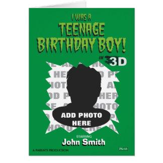 ¡Era un muchacho adolescente del cumpleaños! Tarjeta De Felicitación