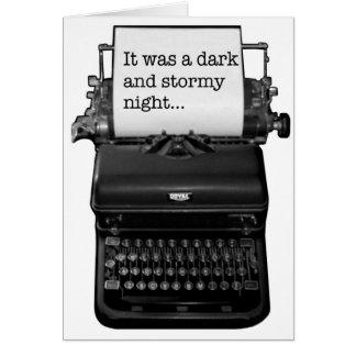 Era una noche oscura y tempestuosa tarjeta de felicitación