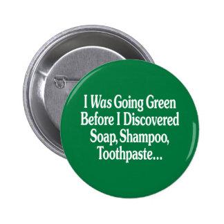 Era verde que iba… chapa redonda de 5 cm