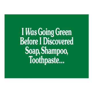 Era verde que iba… tarjeta postal