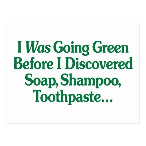 Era verde que iba… postales