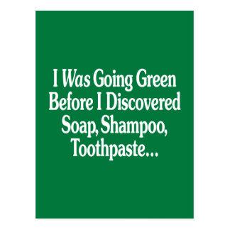 Era verde que iba… postal