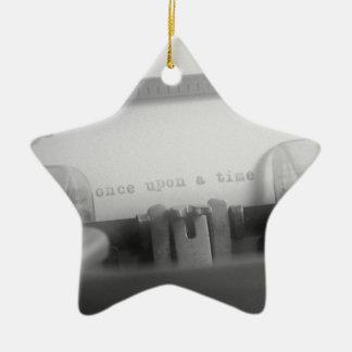 Érase una vez adorno navideño de cerámica en forma de estrella