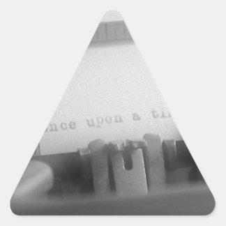 Érase una vez pegatina triangular