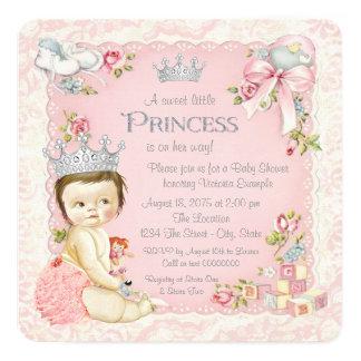 Érase una vez princesa fiesta de bienvenida al invitación 13,3 cm x 13,3cm