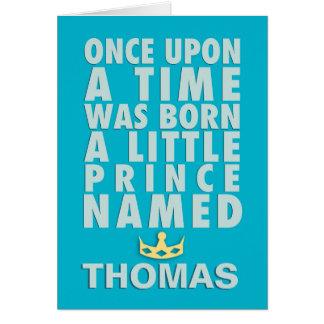 Érase una vez - príncipe Papercut Style Tarjeta De Felicitación