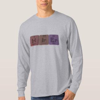 Erbio del iridio del hidrógeno del arrendador del camiseta
