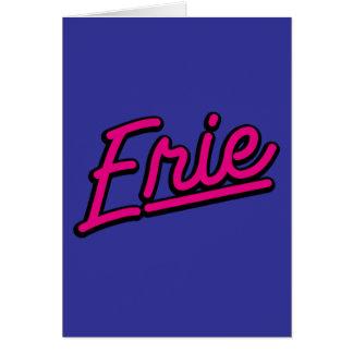 Erie en magenta tarjeta