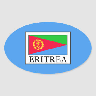 Eritrea Pegatina Ovalada