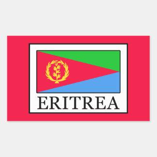 Eritrea Pegatina Rectangular