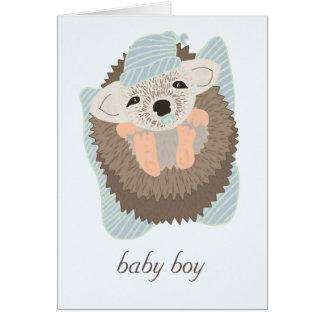Erizo del bebé tarjeta de felicitación