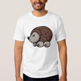 Erizo del dibujo animado camisetas
