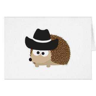 Erizo del vaquero tarjeta