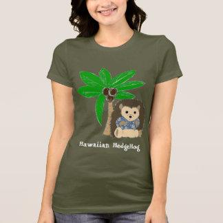 Erizo y palmera hawaianos camiseta