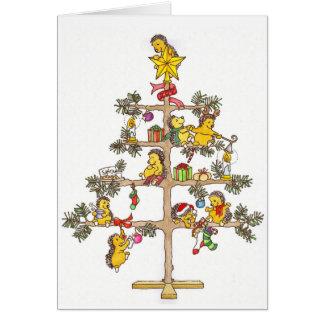Erizos del navidad tarjeta de felicitación