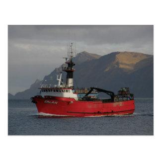 Erla N, barco del cangrejo en el puerto holandés,  Postales