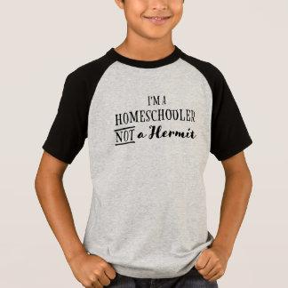 Ermitaño de Homeschooler no - la camiseta del niño