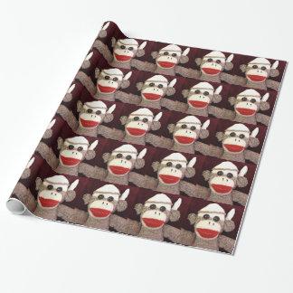 Ernie el papel de embalaje del mono del calcetín papel de regalo