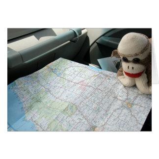 Ernie la tarjeta de nota de la lectura de mapa del