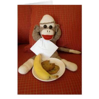 Ernie la tarjeta de nota del bocado del mono del